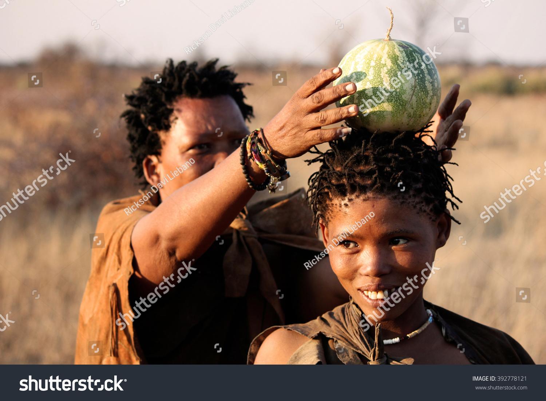 Something is. San people of botswana