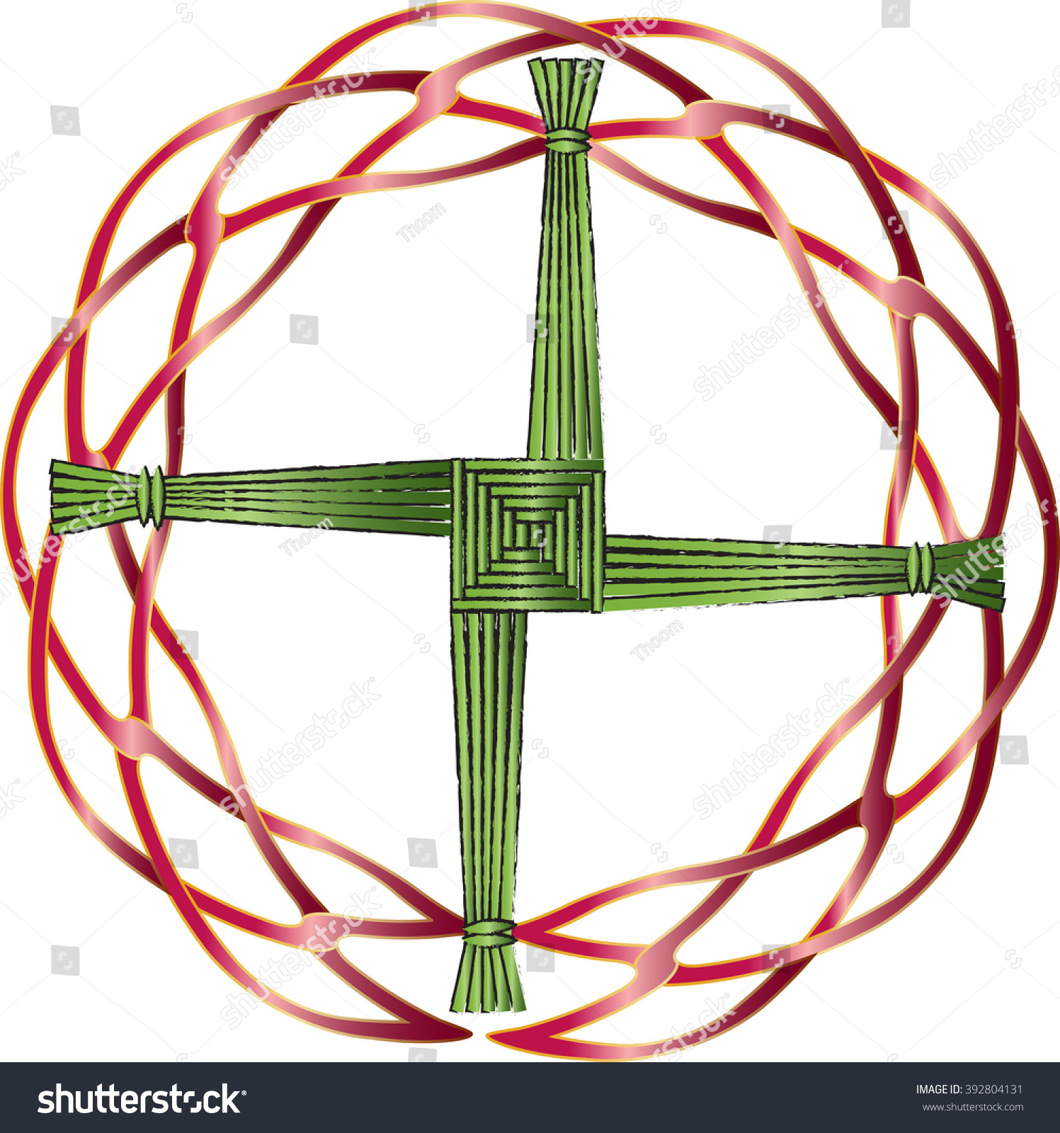 St brigids cross made straw protect stock vector 392804131 st brigids cross made of straw to protect the house from evil and fire a biocorpaavc Gallery