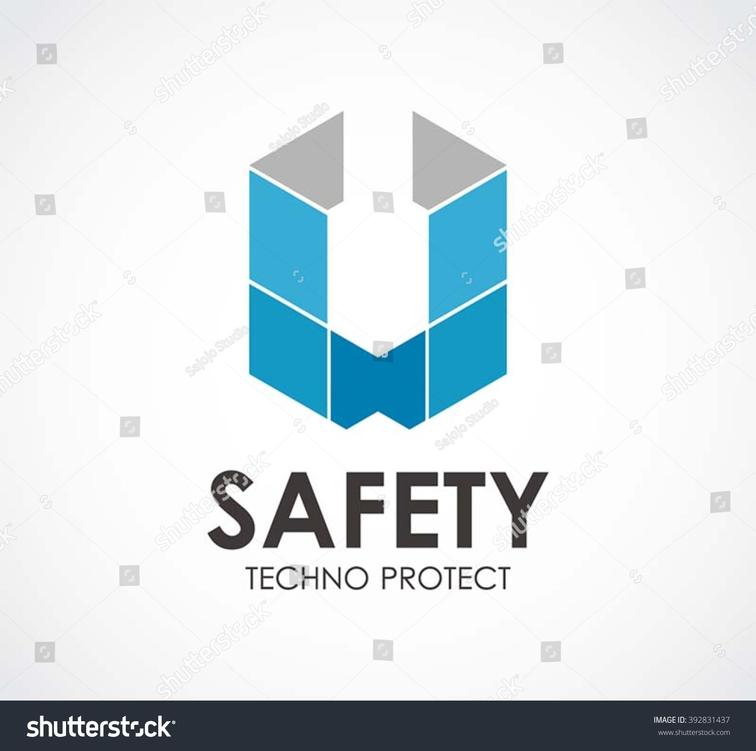 Safety Ribbon Of Shield Technology Abstract Vector And Logo Design Or Template Protection Business Icon