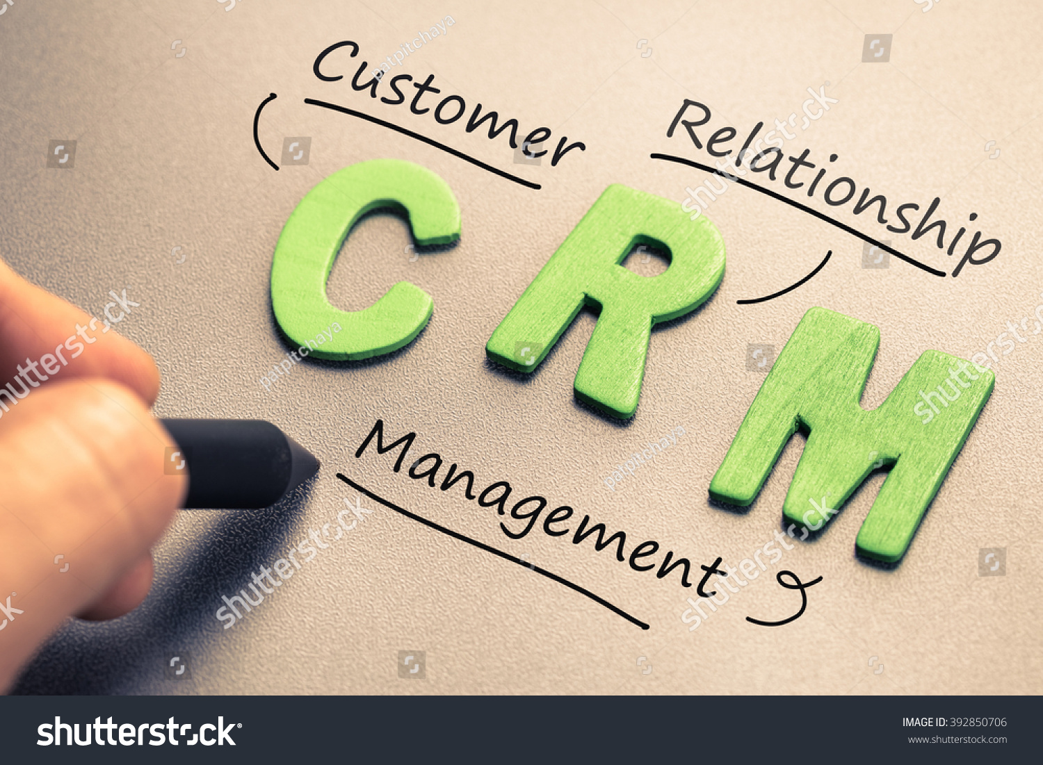 Wood Letter Crm Abbreviation Customer Relationship Stock
