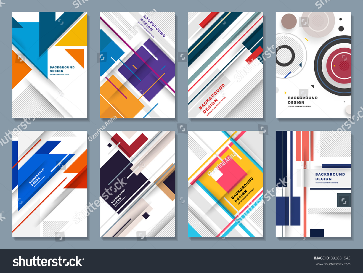 Abstract backgrounds set geometric shapes frames stock vector geometric shapes and frames for presentation annual reports flyers magicingreecefo Images