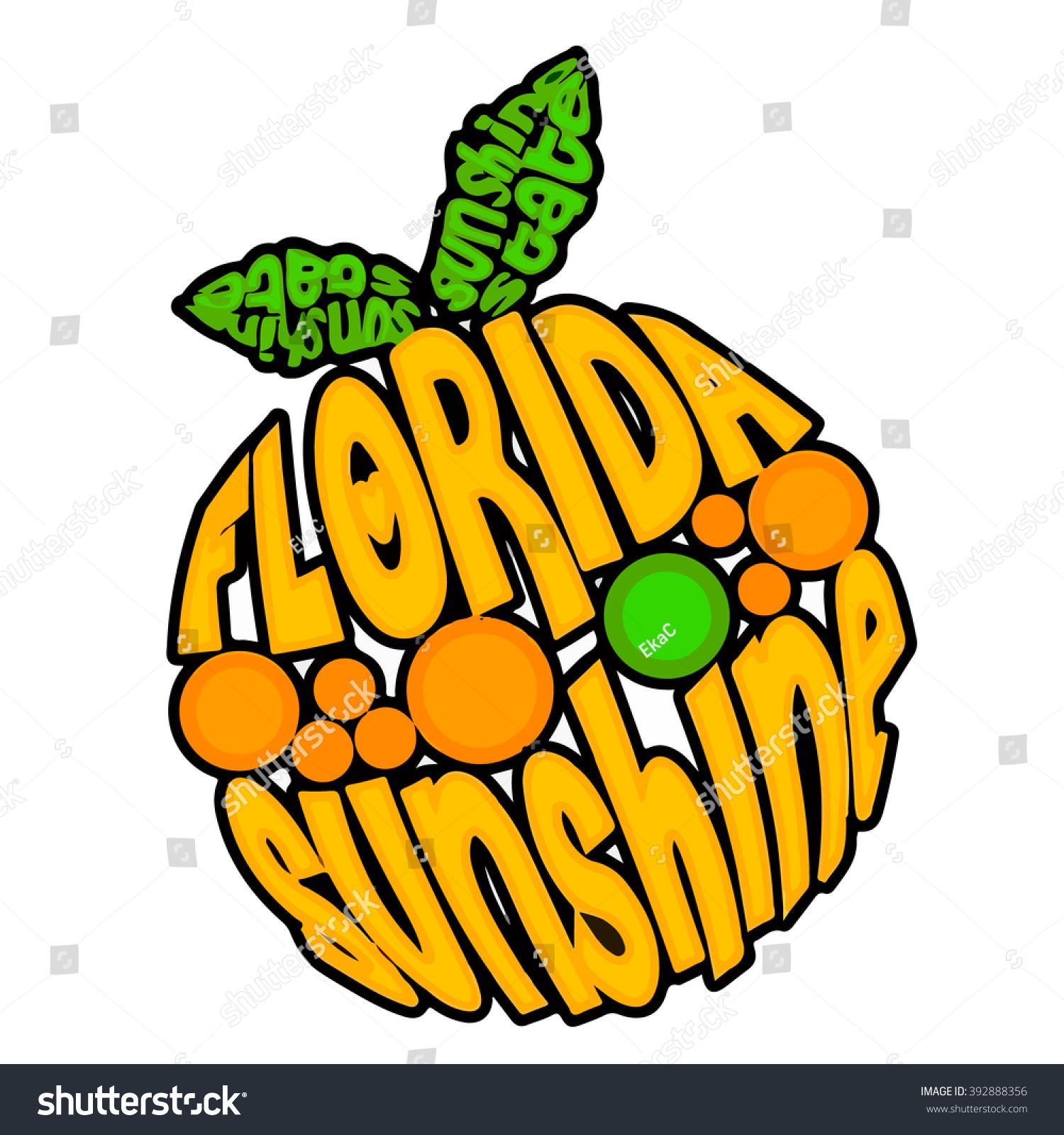 Florida sunshine state orange symbol fl stock vector 392888356 florida the sunshine state orange symbol of fl usa with letters in abstract symbol of buycottarizona