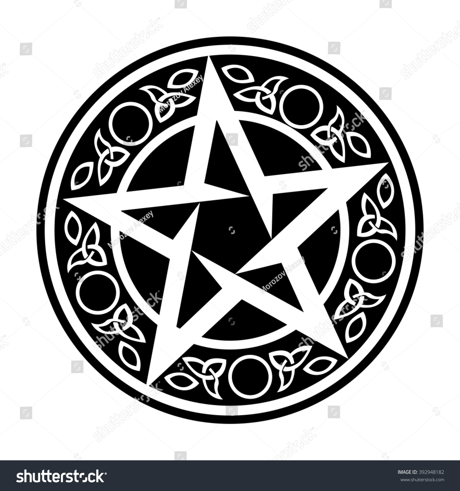 Wiccan Talisman Vector Symbol Isolated On Stock Vector Royalty Free