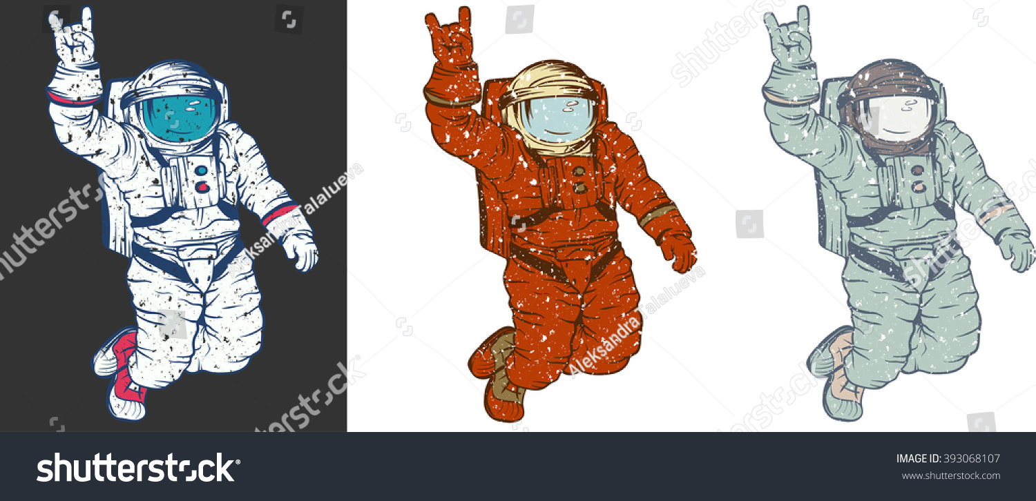 Retro Astronaut Drawing | www.imgkid.com - The Image Kid ...
