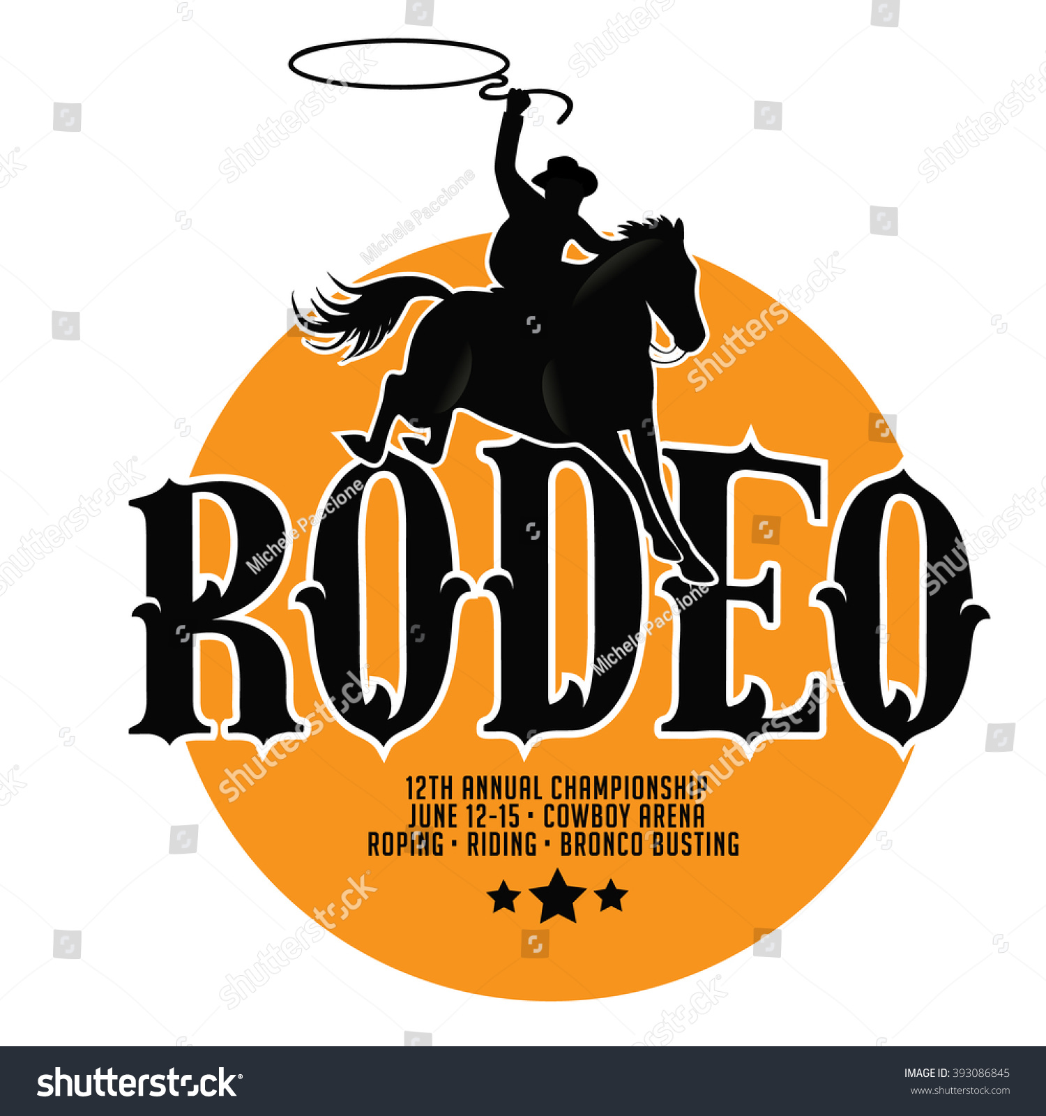 Poster design eps - Rodeo Poster Design With Copy Space Eps 10 Vector