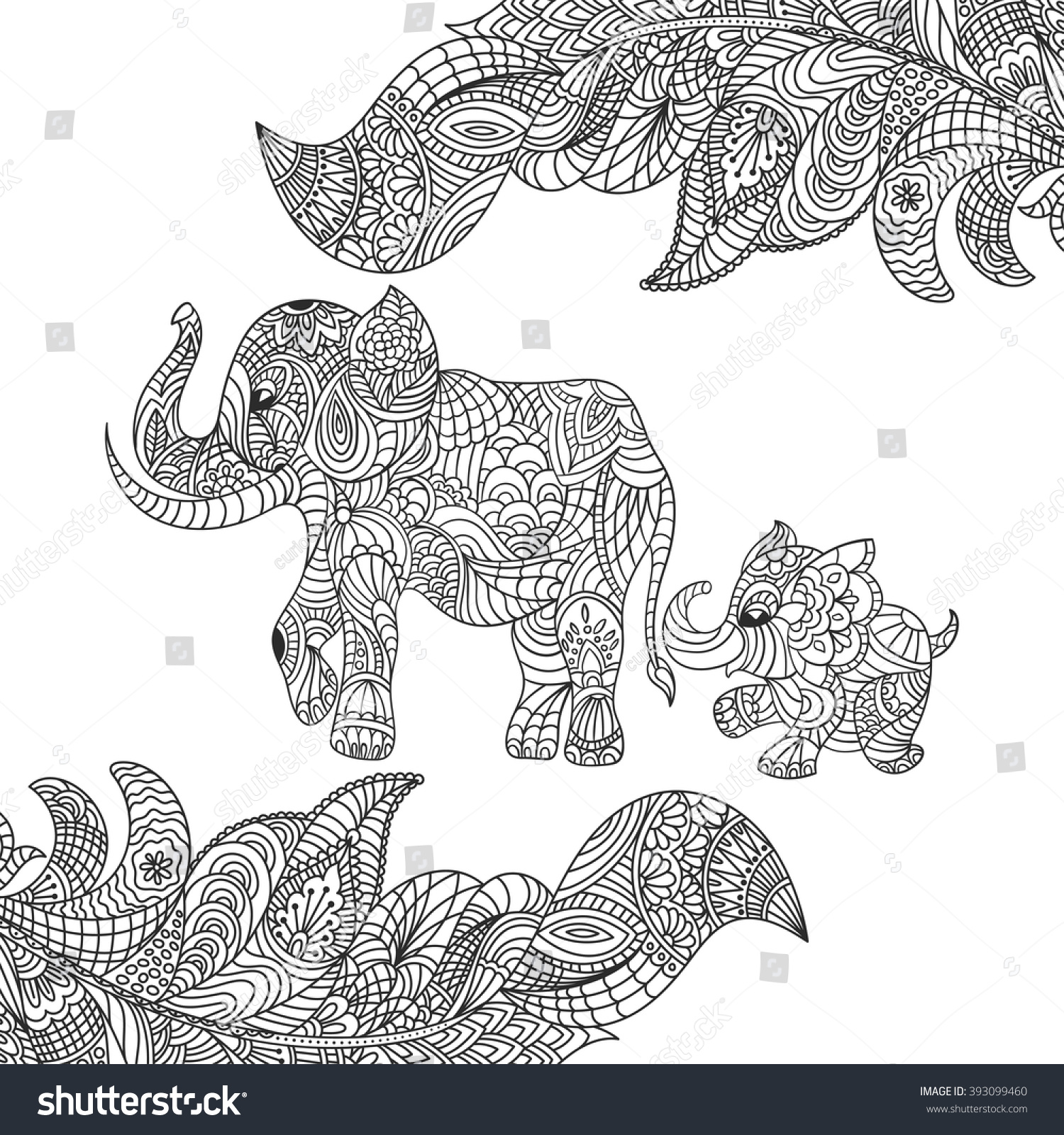 Famous Mommy And Baby Elephant Coloring Pages Composition - Resume ...