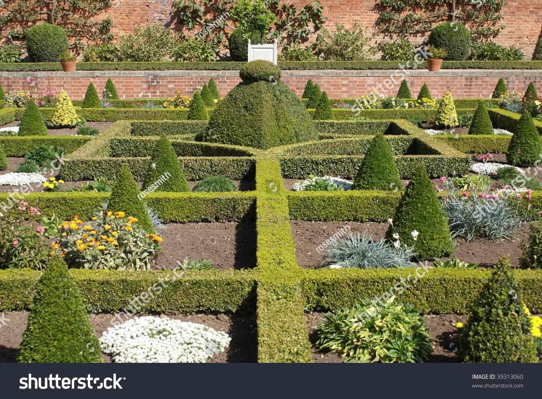 Formal Garden Creative Design Yew Topiary Stock Photo Edit Now 39313060