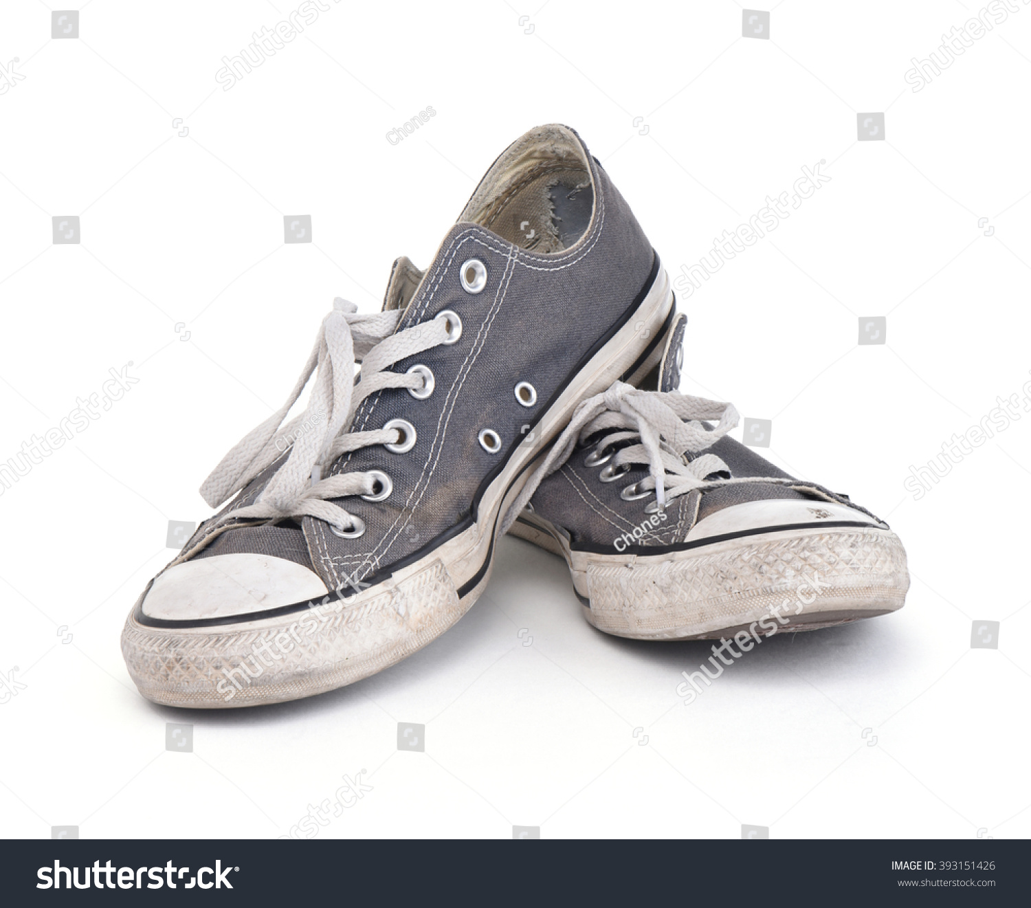 ddfb0591 LOS ANGELES , USA - MARCH 19, 2016 Old dirty converse sneakers isolated on  white