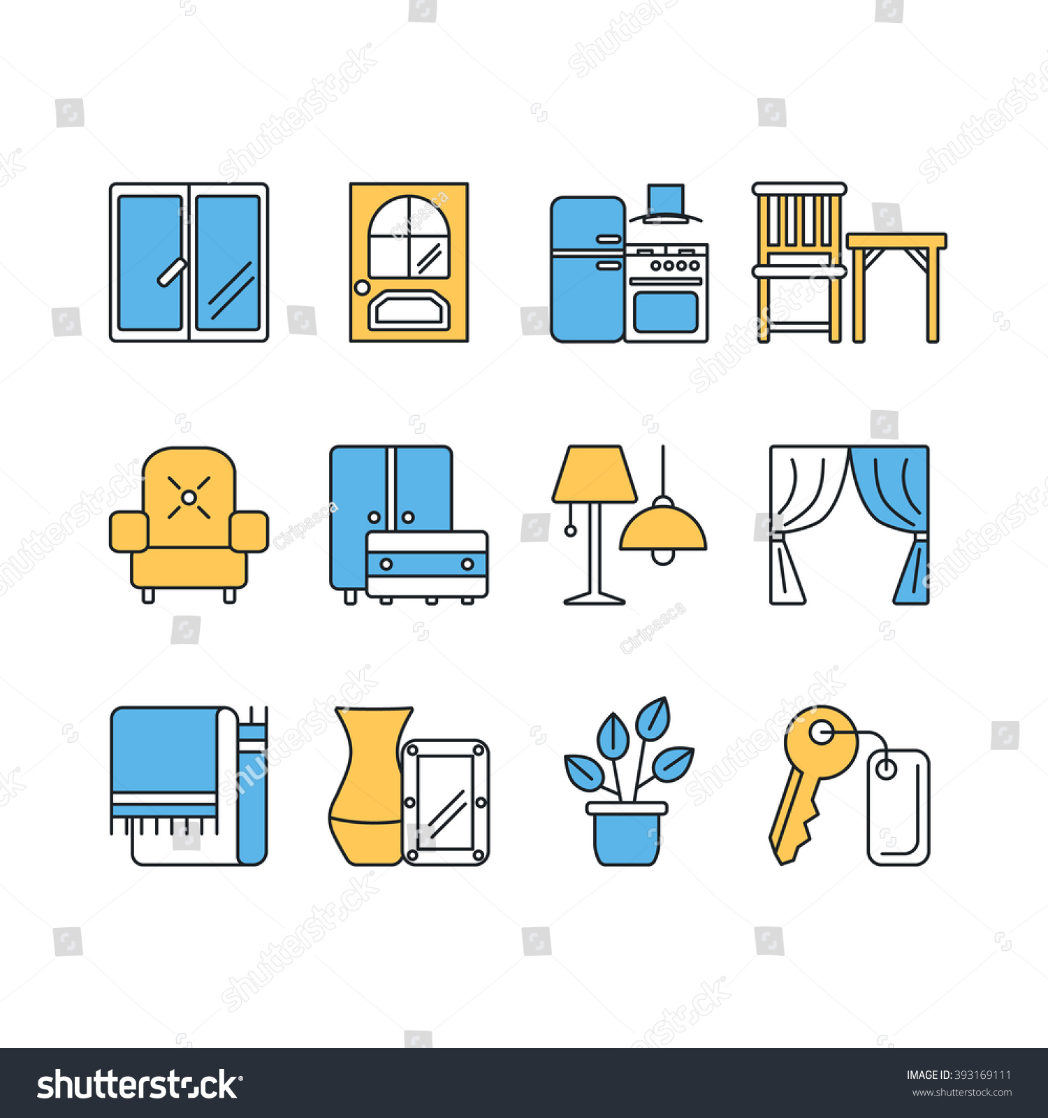 Interior Design Furniture Symbols ~ Symbols for interior design furniture