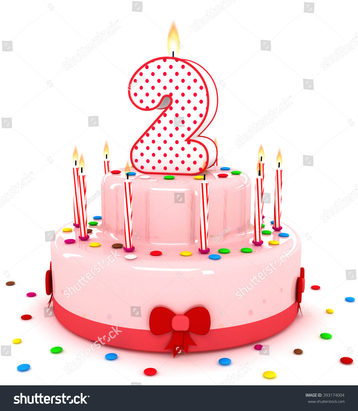 Cake Images With Letter S : 3d Cute Number Two 2 Rendering Stock Illustration ...