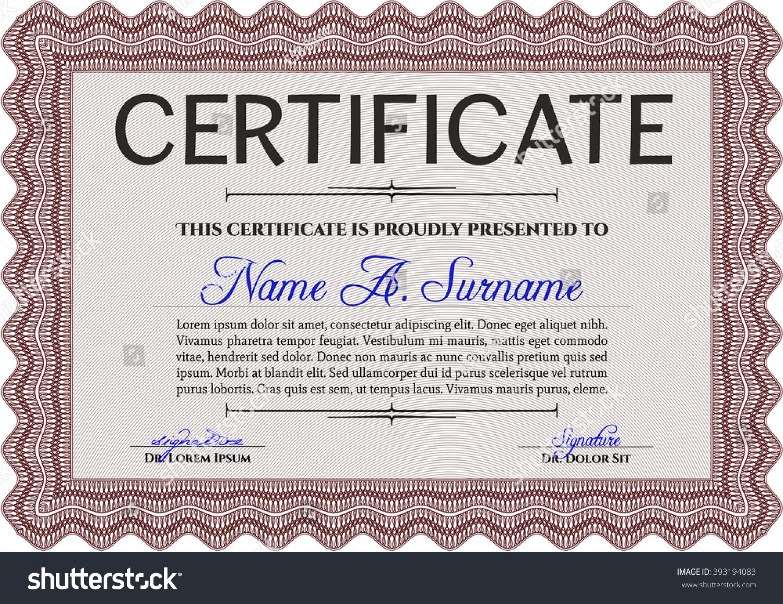 sample certificate diploma complex linear background stock vector  sample certificate or diploma complex linear background elegant design vector certificate template