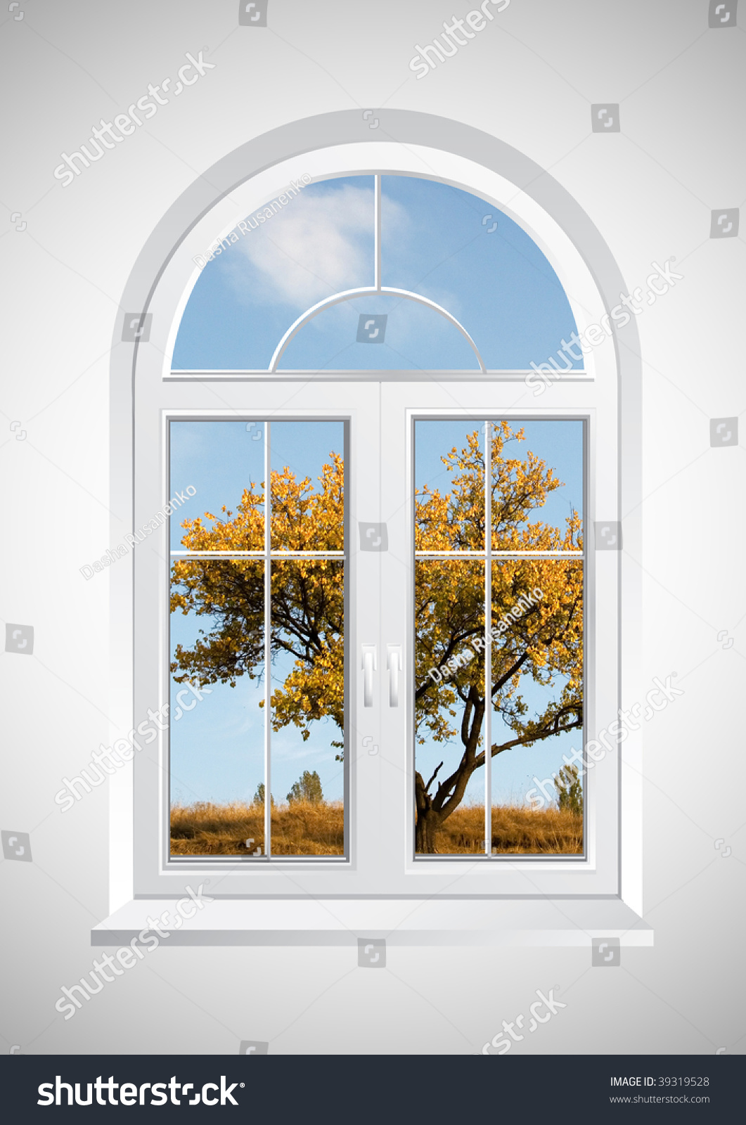 New Closed Plastic Glass Window Frame Stock Photo (Royalty Free ...