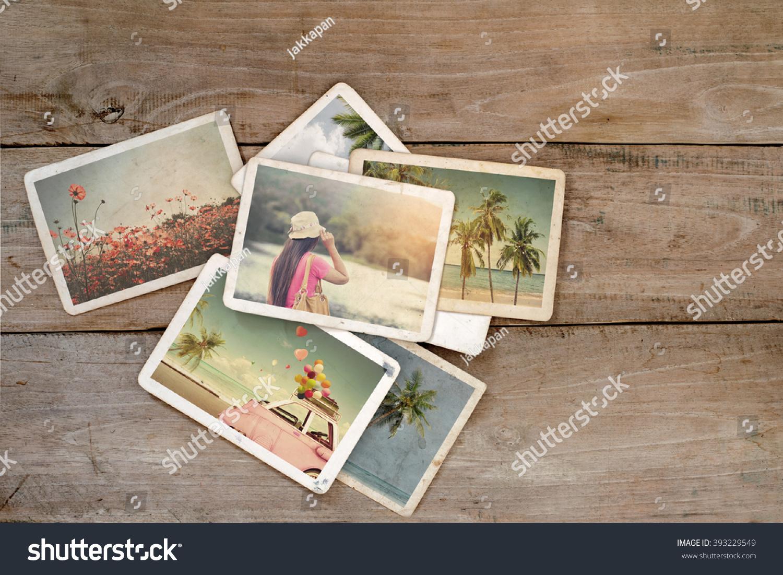 summer photo album remembrance nostalgia on stock photo