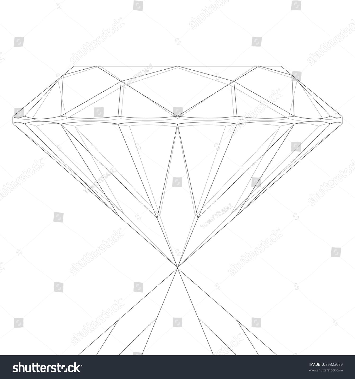 Line Art Diamond : Diamond key line drawing stock vector shutterstock