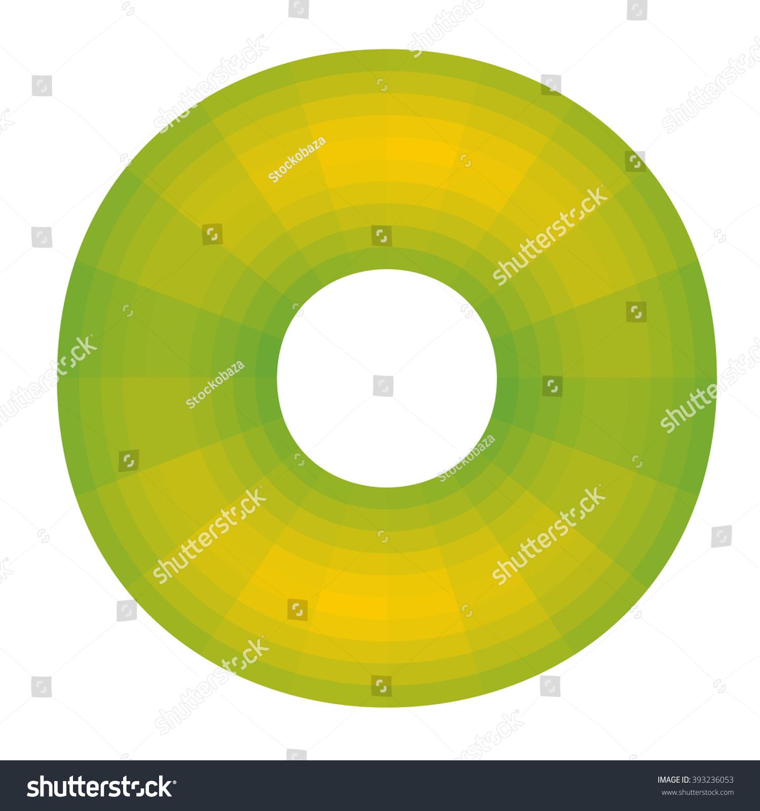 Yellow Green Graph Ring Shift Color Stock Vector 393236053 ...