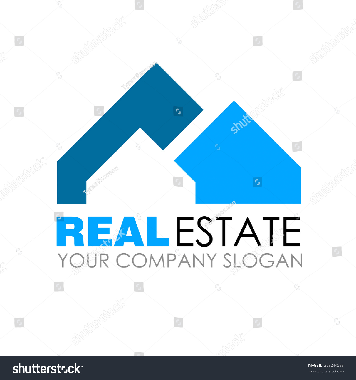 Real Estate Eco House Logo Template Stock Vector (Royalty Free ...
