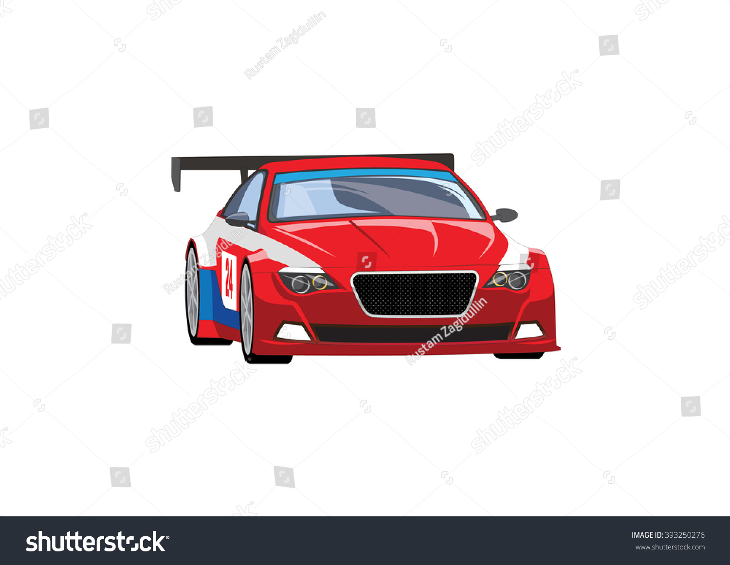 Vector Illustration Red Sports Car On Stock Vector ...