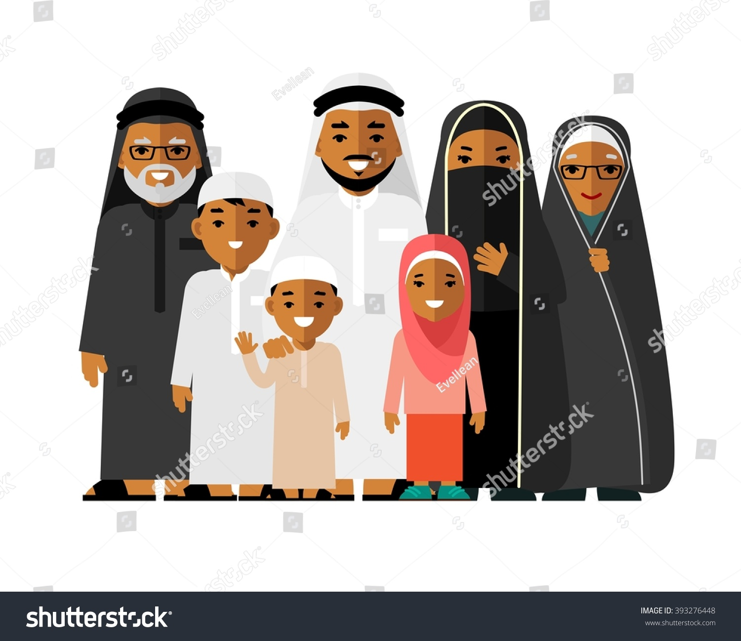 Royalty-free Happy muslim arabic family isolated on ...
