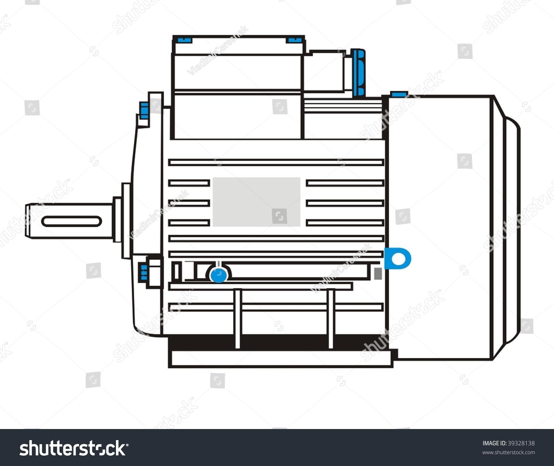 stock vector electric motor black vector drawing propulsion electromechanical 39328138 1997 infiniti j30 fuse box wiring diagrams 1997 infiniti j30 fuse box diagram at bayanpartner.co