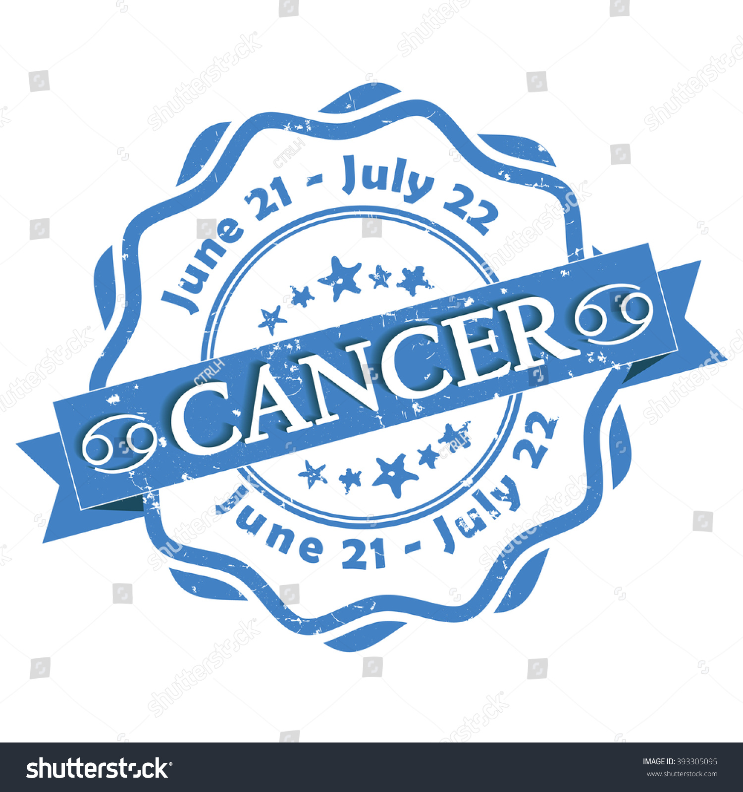 Cancer crab zodiac sign grunge blue stock vector 393305095 cancer crab zodiac sign grunge blue ribbon also for print contains also buycottarizona Image collections