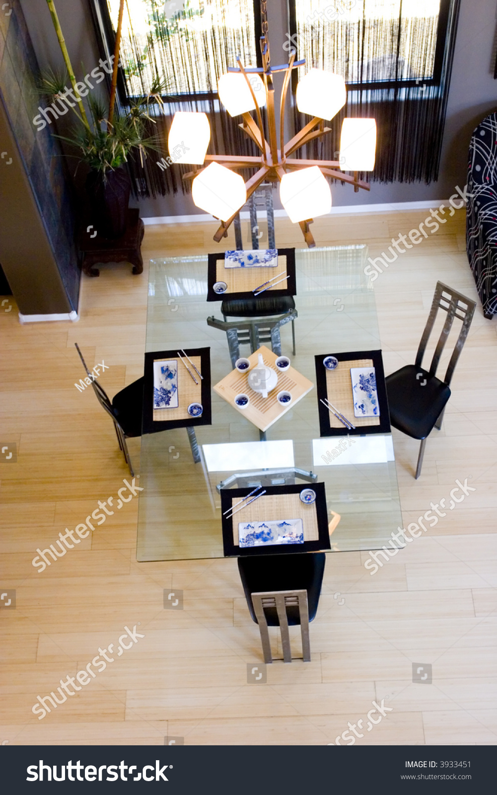 modern asian inspired dining rooms stock photo 3933451