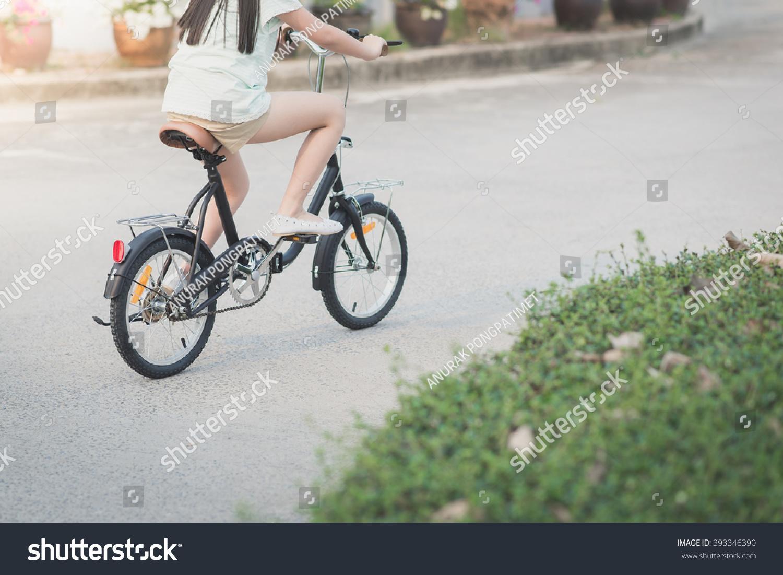 gorgeous asian teen riding