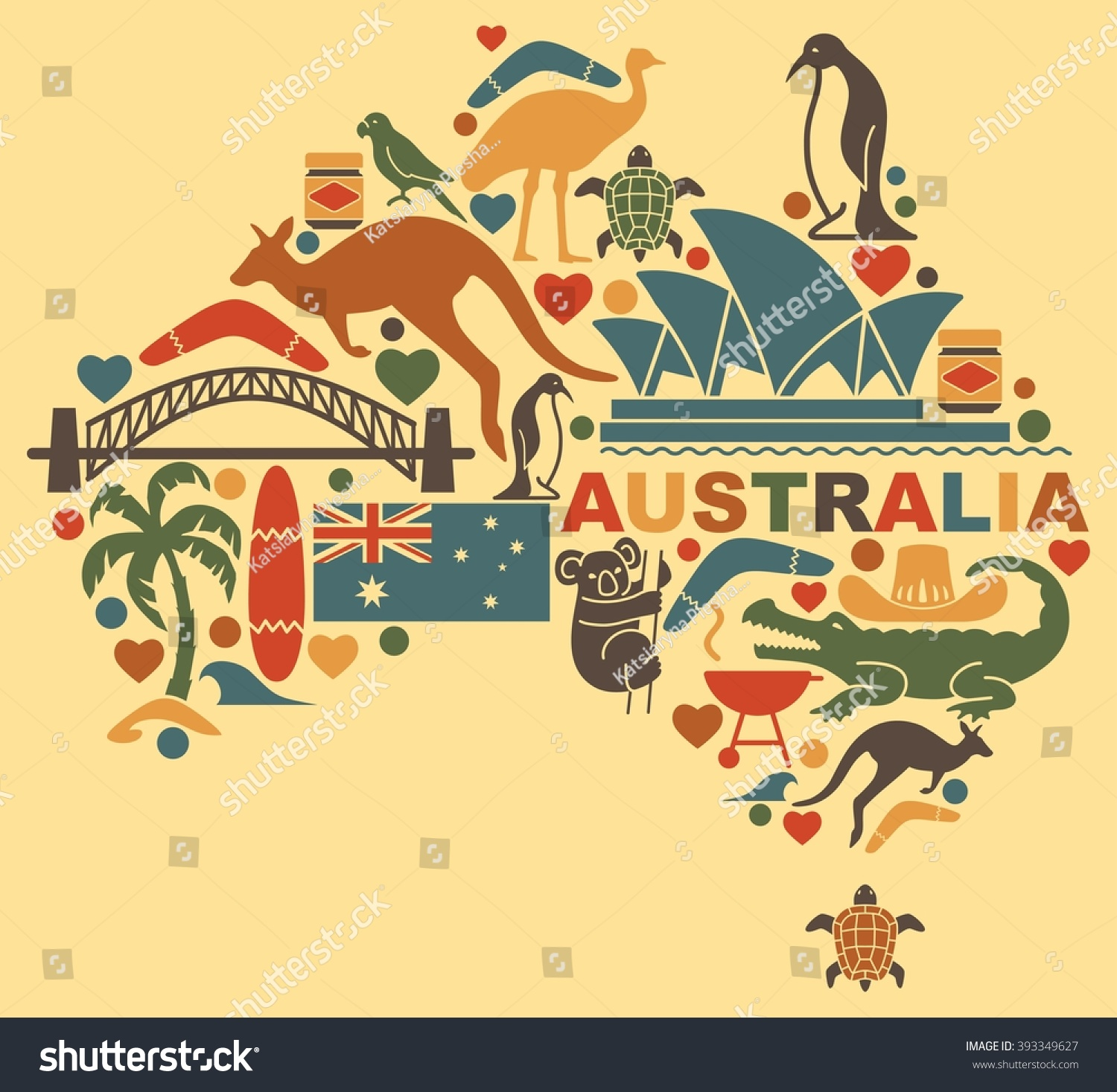 Traditional symbols australian culture nature form image for Australian traditions