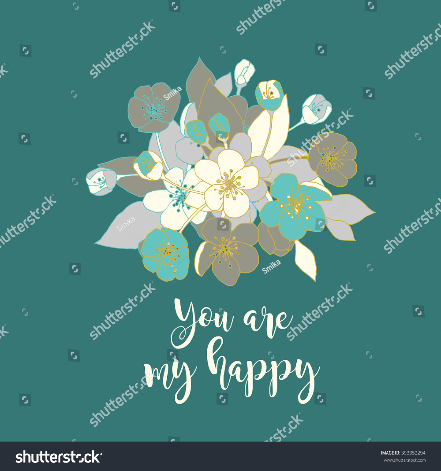 Greeting cards apple flowers stock vector 393352294 shutterstock greeting cards with apple flowers m4hsunfo