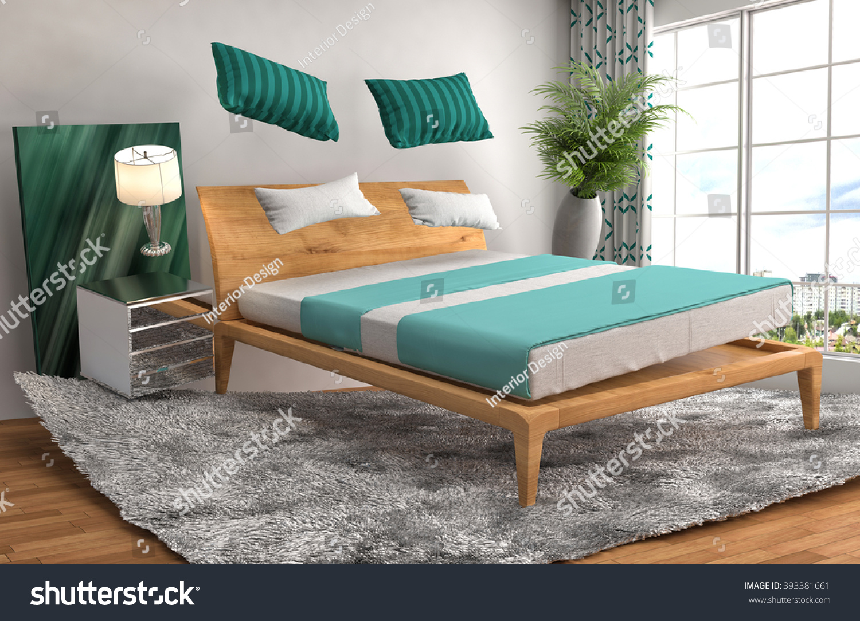 Zero Gravity Bed Hovering Living Room Stock Illustration 393381661 ...