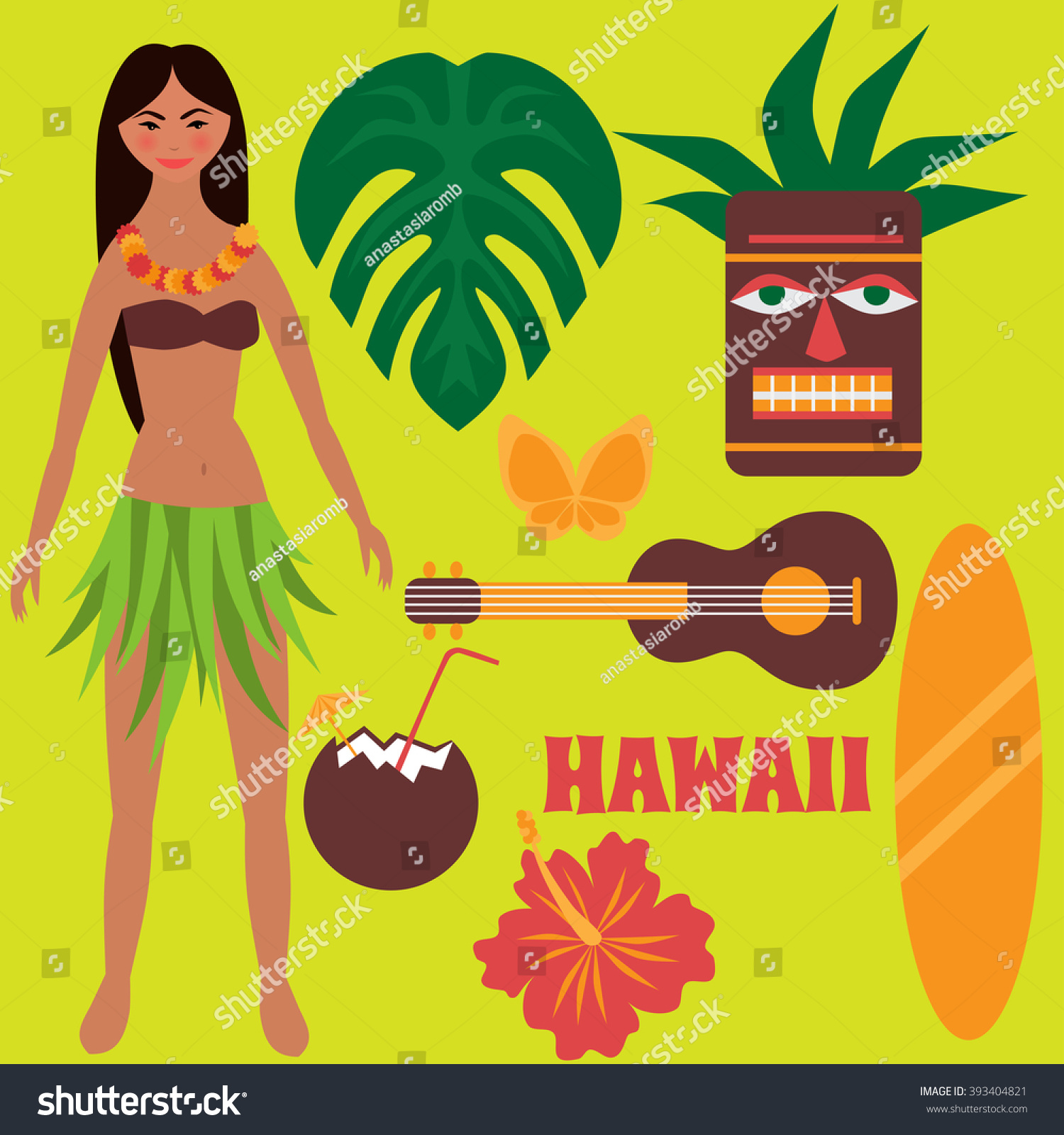 Luau party design elements tropical rest stock vector 393404821 luau party design elements tropical rest time off on hawaii islands vacation izmirmasajfo Gallery