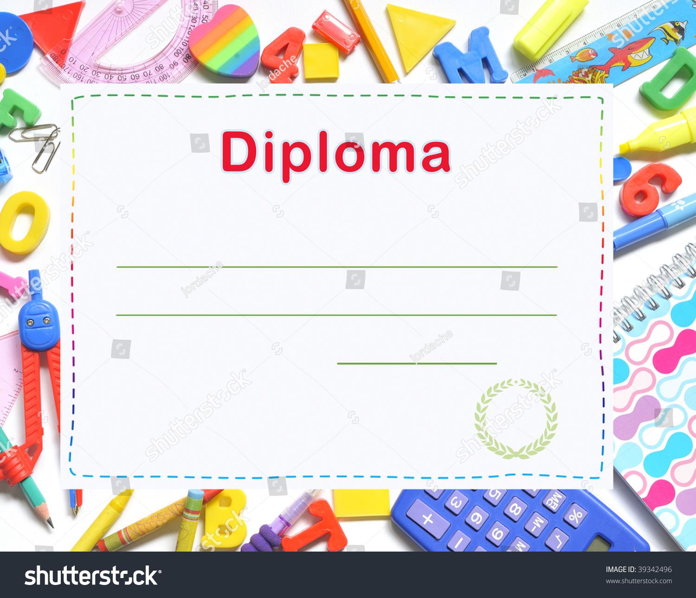 Preschool Diploma Stock Photo 39342496 - Shutterstock