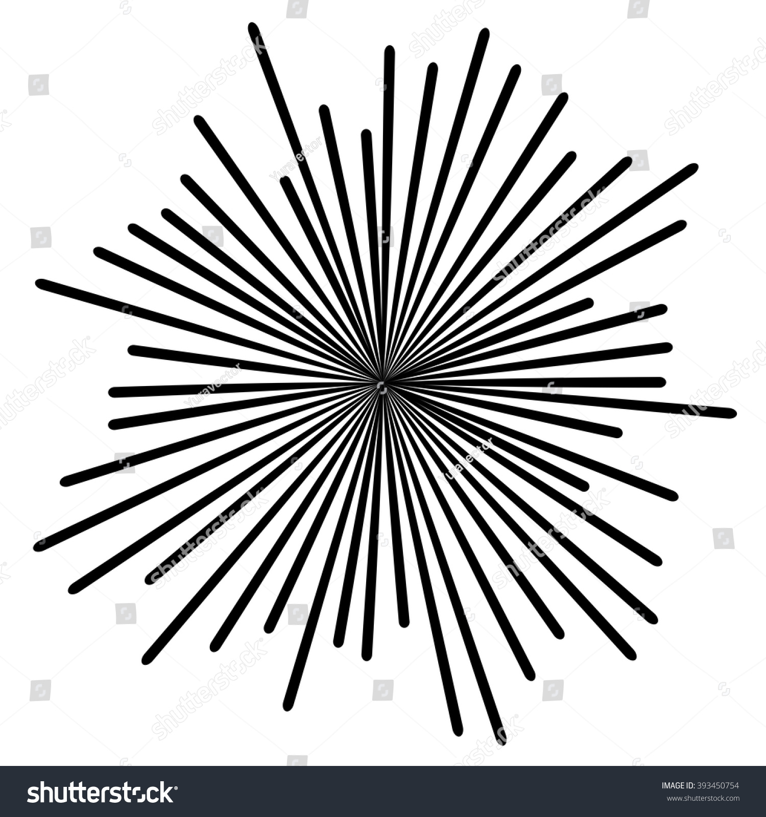 Line Drawing Sun Vector : Black radial lines background sun ray stock vector