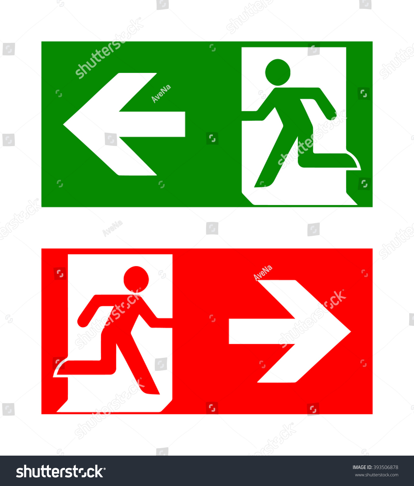 Royalty Free Vector Fire Emergency Icons Signs Of 393506878 Stock