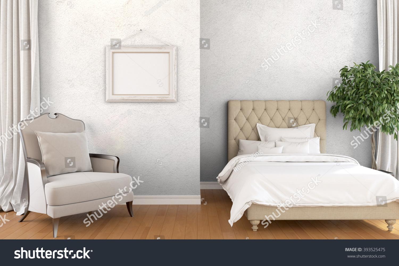 Modern Bright Interior 3d Render Stock Illustration