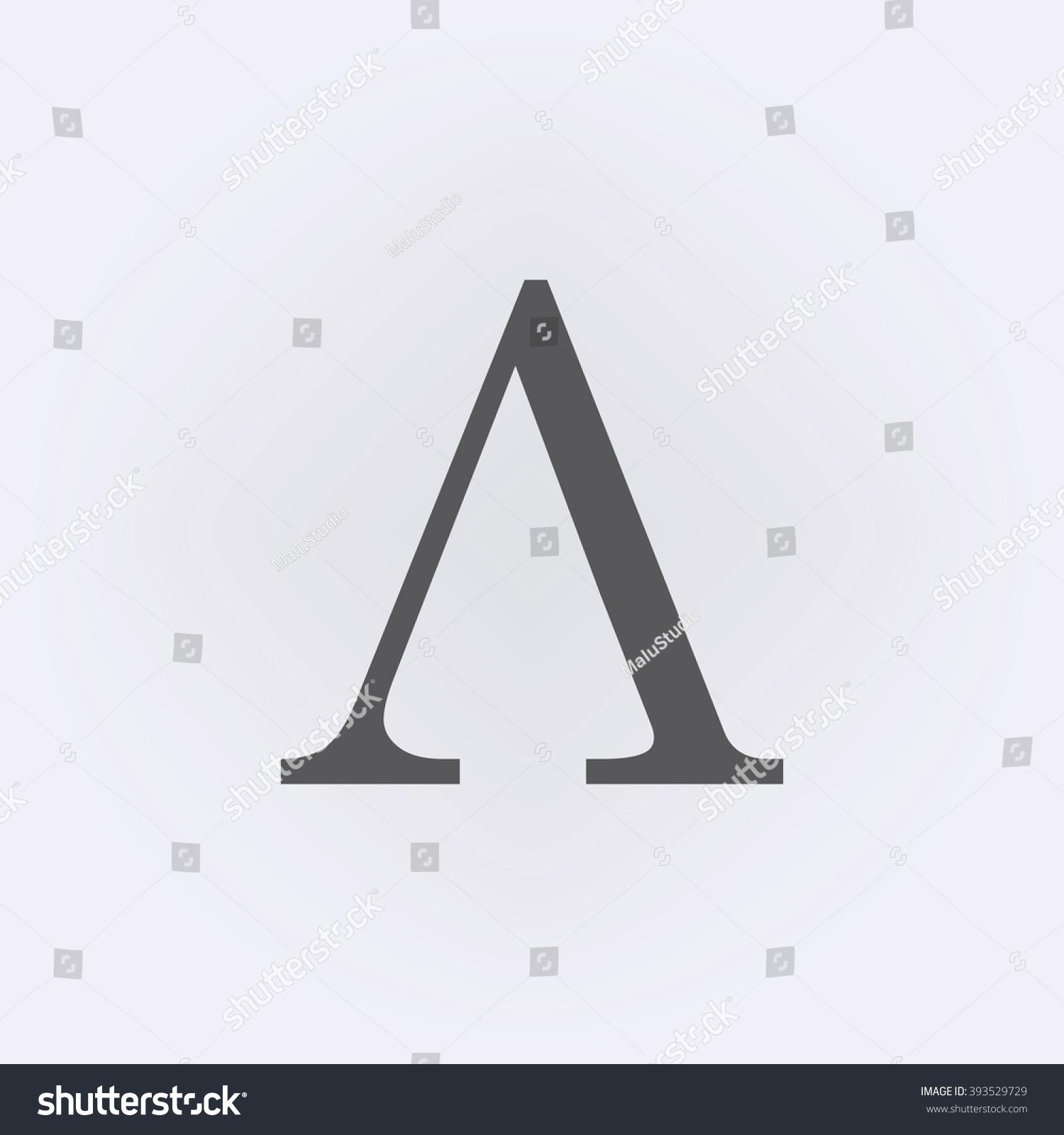Greek Letter Lambda Symbol Vector Illustration Stock Vector