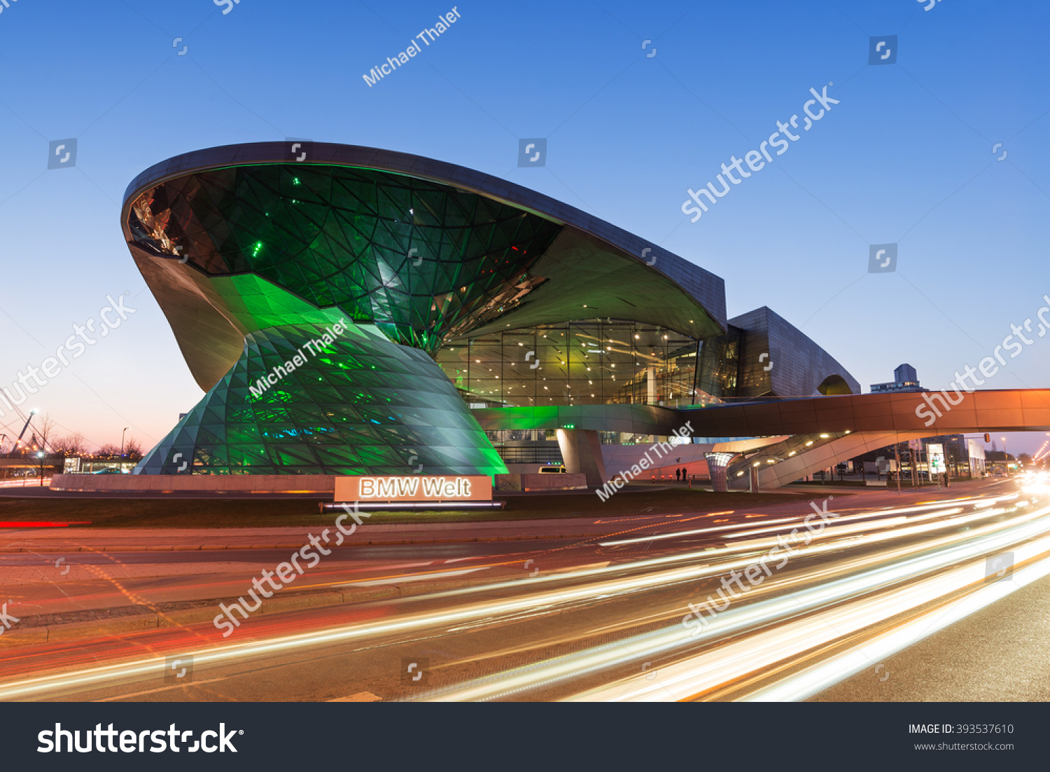 MUNICH GERMANY MARCH 17 2016 BMW World BMW Welt a multi-functional customer experience and exhibition facility of the BMW AG at St Patricks Day