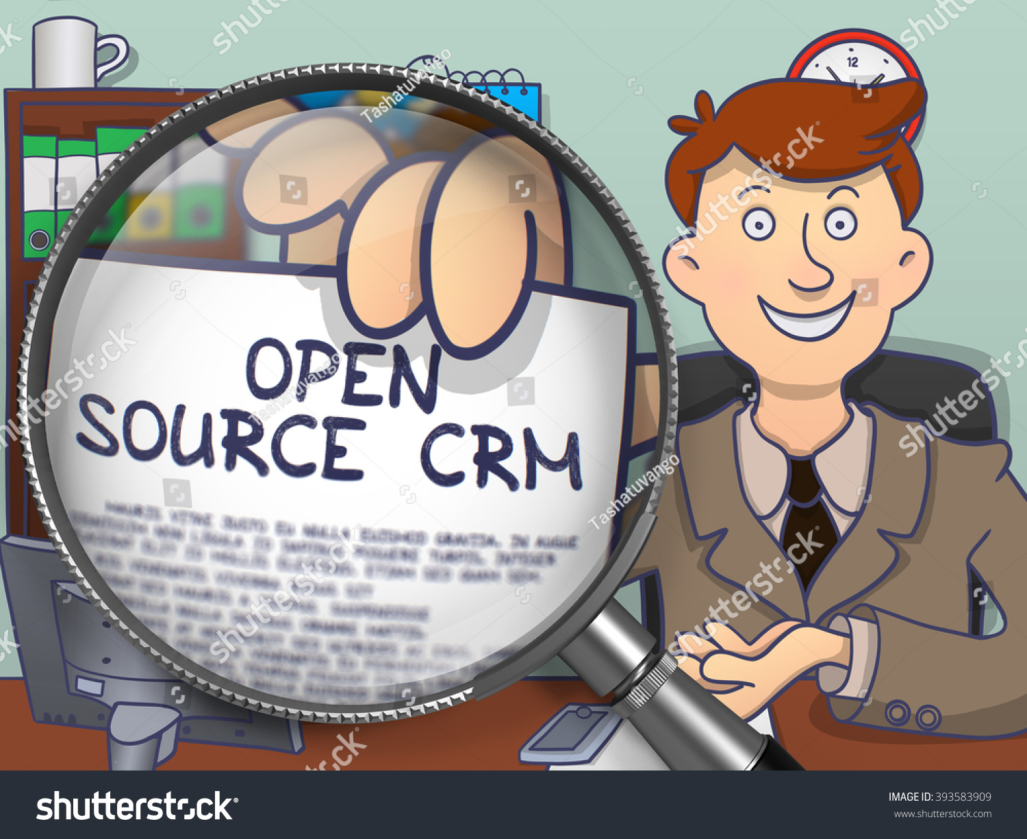 Open source crm officeman office holding stock illustration 393583909 shutterstock Open source illustrator