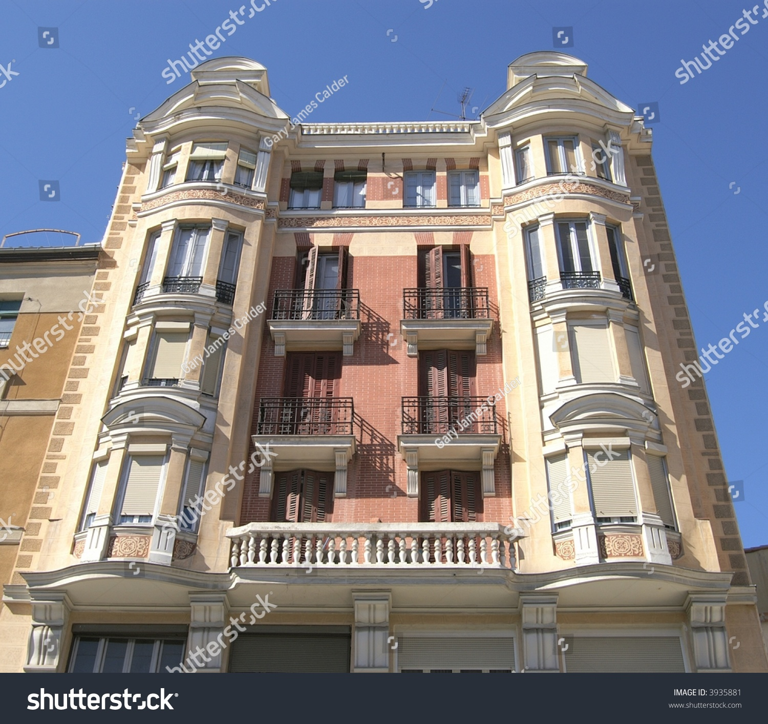 Old Apartment: Old Apartment Building, Madrid Spain Stock Photo 3935881