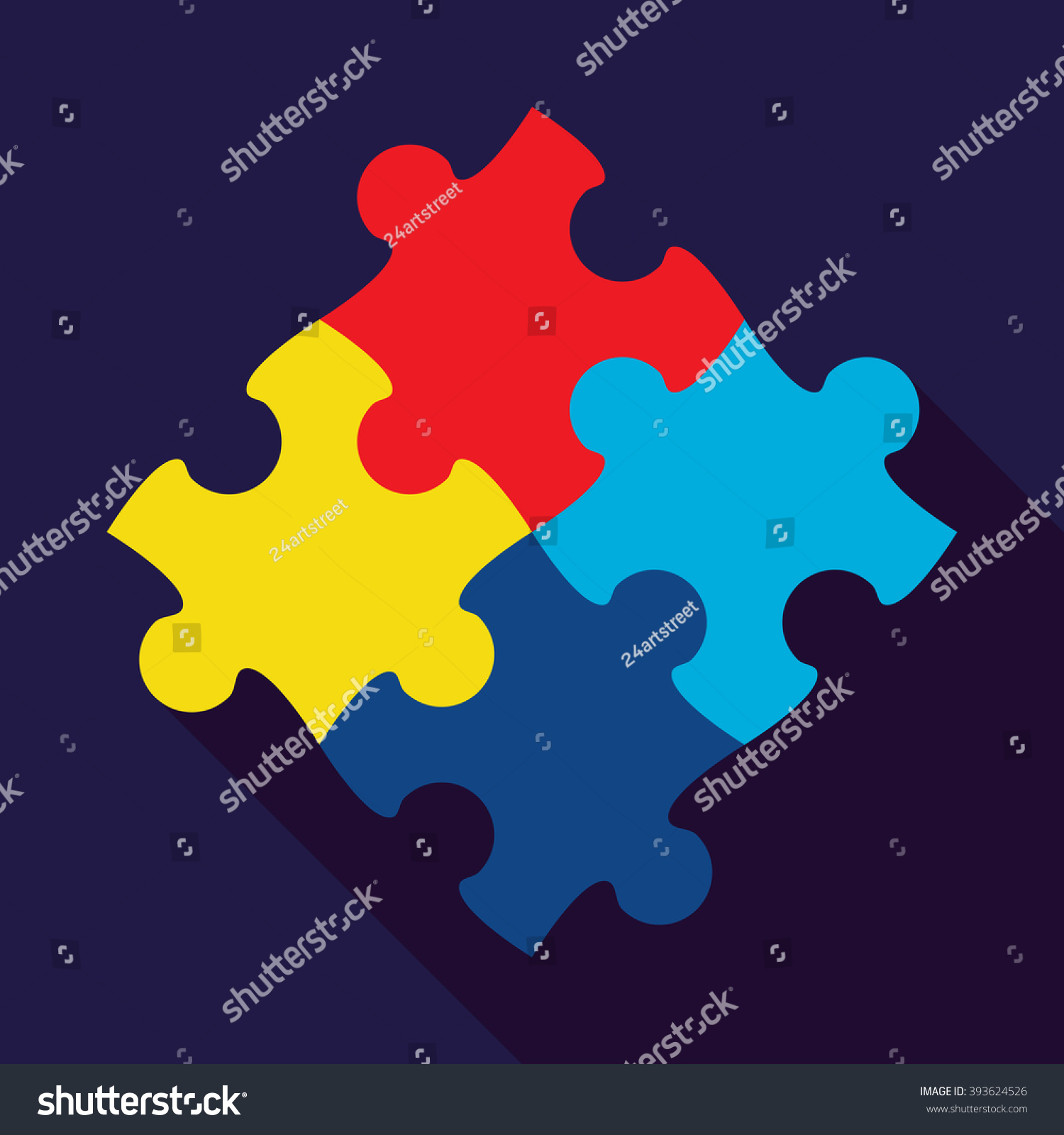 World autism awareness day card poster stock vector 393624526 world autism awareness day card or poster template with symbol of autism emblem made biocorpaavc