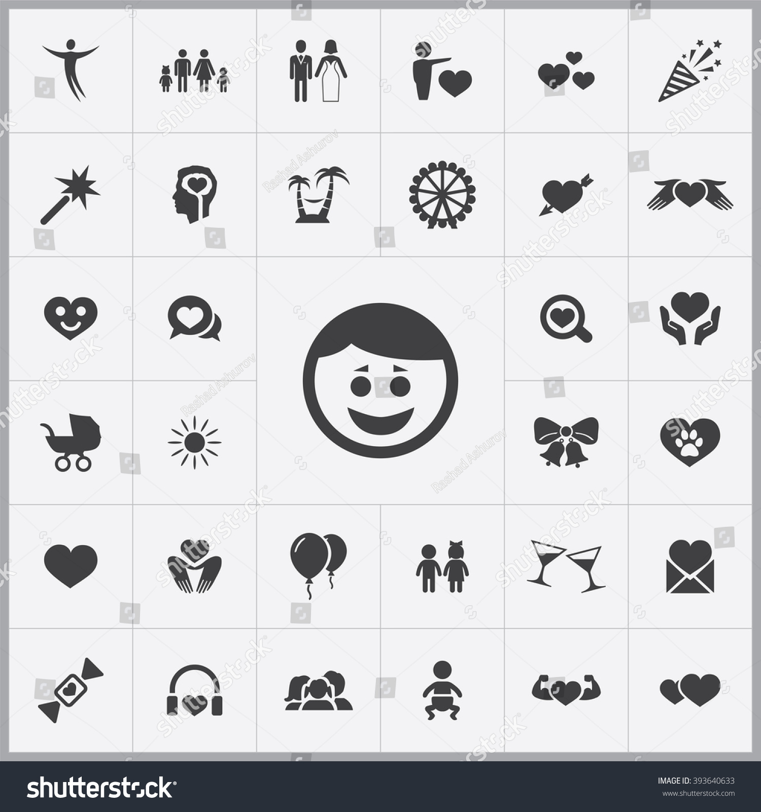 Universal Music Group Stock Quote: Simple Happiness Icons Set Universal Happiness Stock