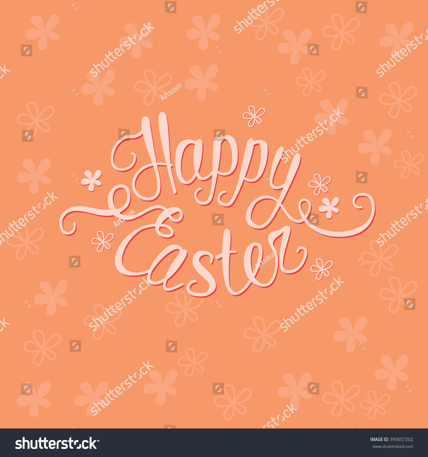 Happy easter orange greeting card unique stock vector 2018 happy easter orange greeting card with unique custom made words happy easter m4hsunfo