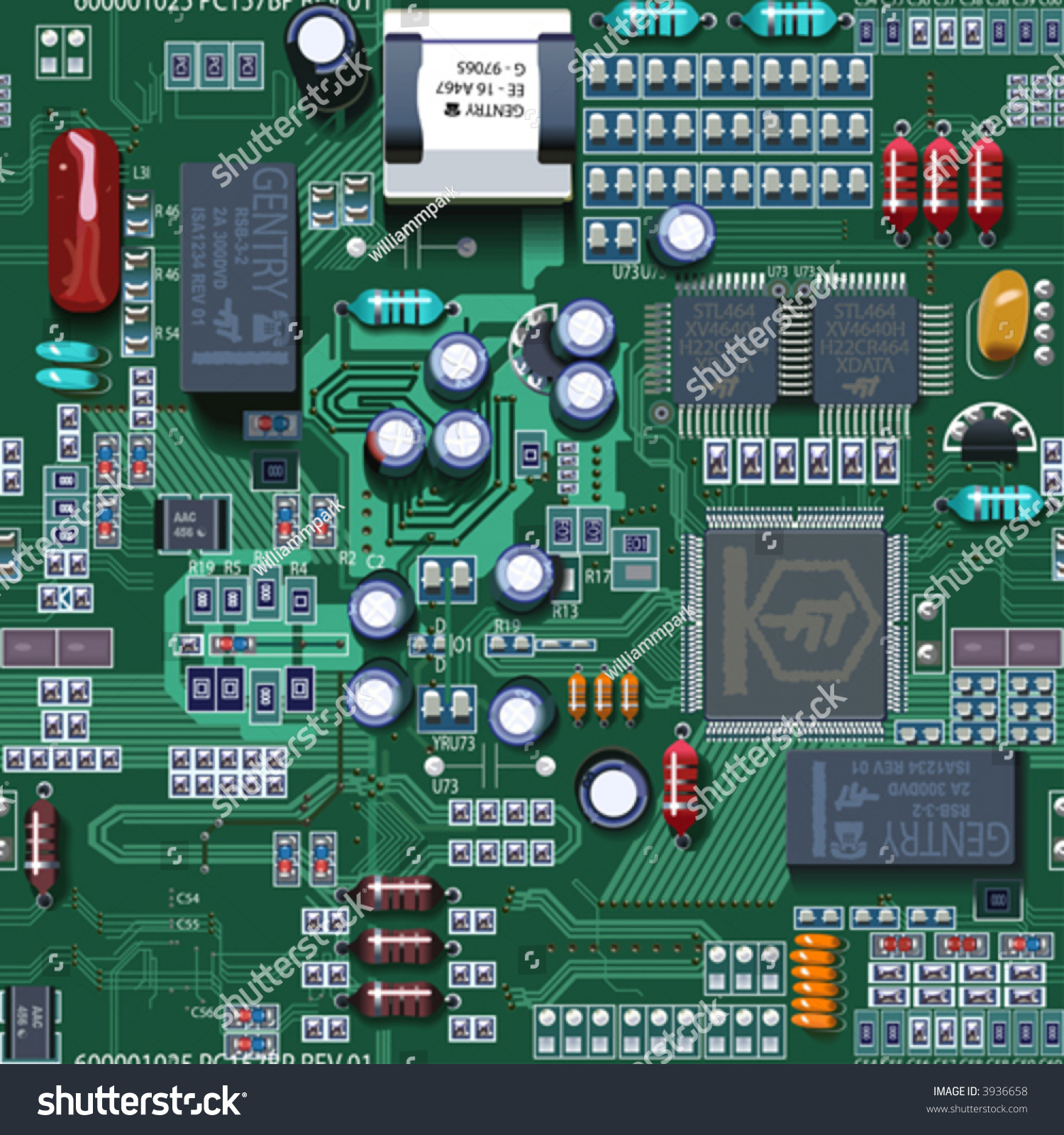circuit board vector tile repeating stock photo 3936658 avopix com rh avopix com