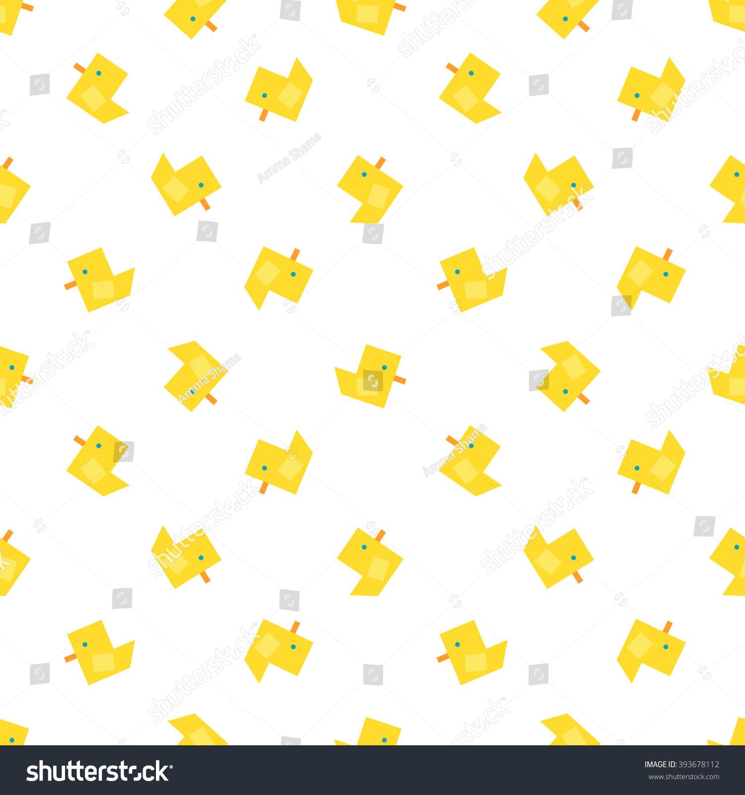 Cute Ducks Vector Seamless Pattern Baby Wallpaper
