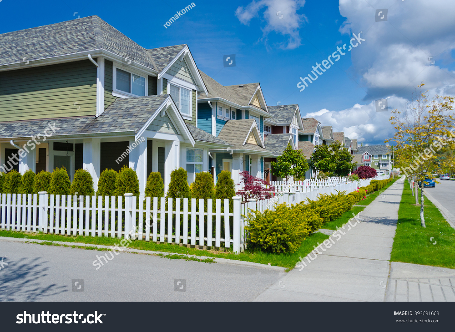 Nice comfortable great neighborhood some homes stock photo for Nice houses in canada