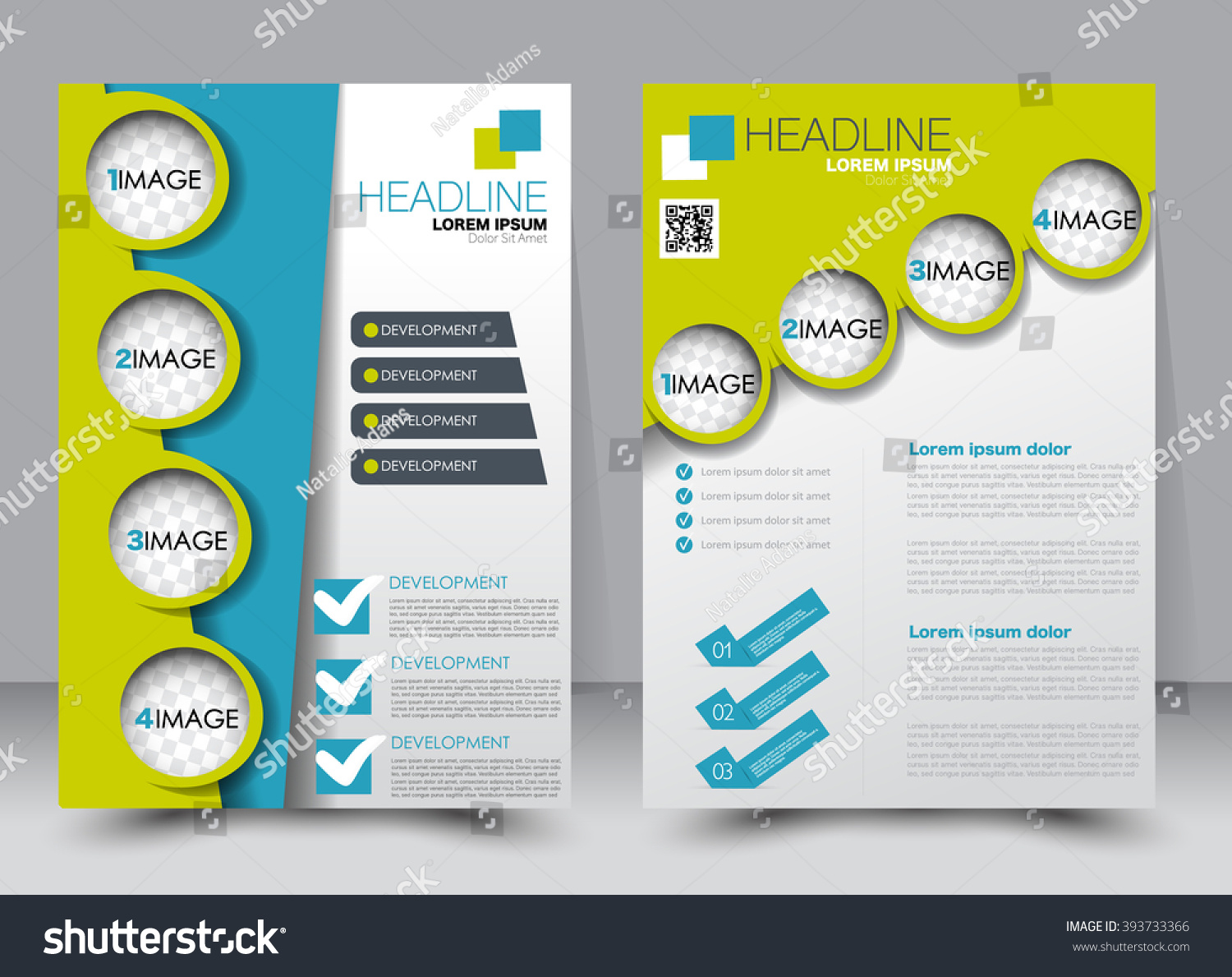 Abstract Flyer Design Background Brochure Template Stock ... on