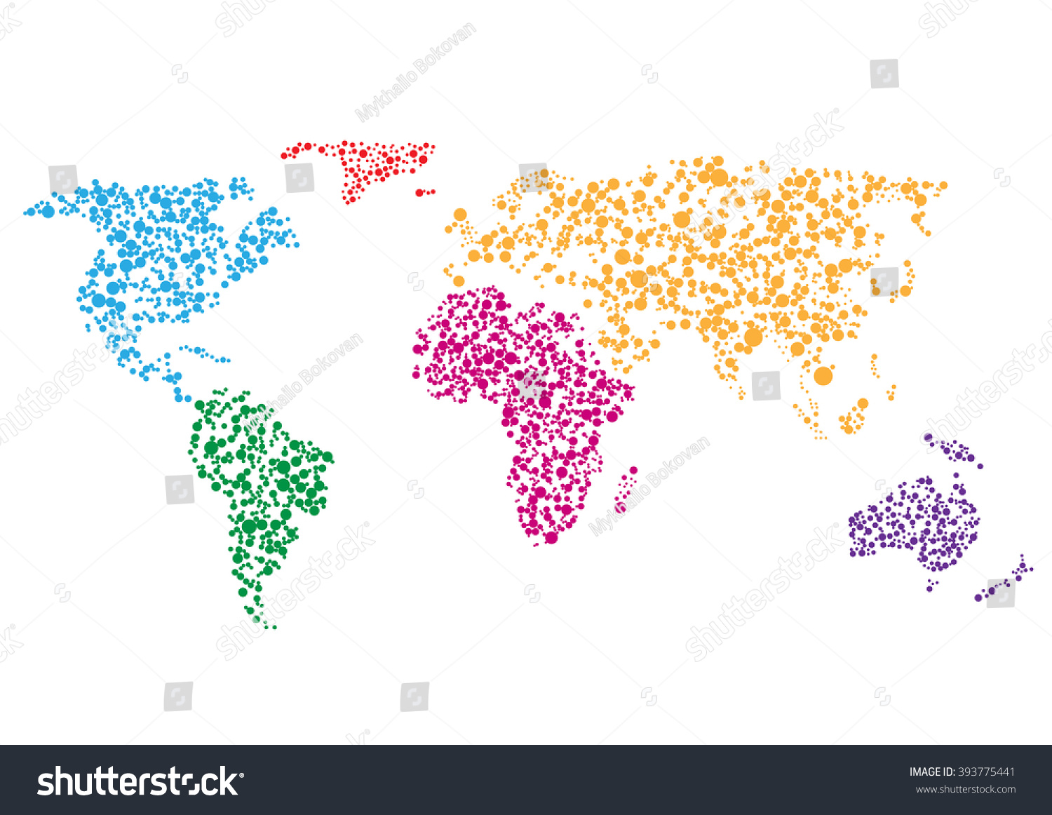 Colorful abstract creative world map on stock vector 393775441 colorful abstract creative world map on white background gumiabroncs Images