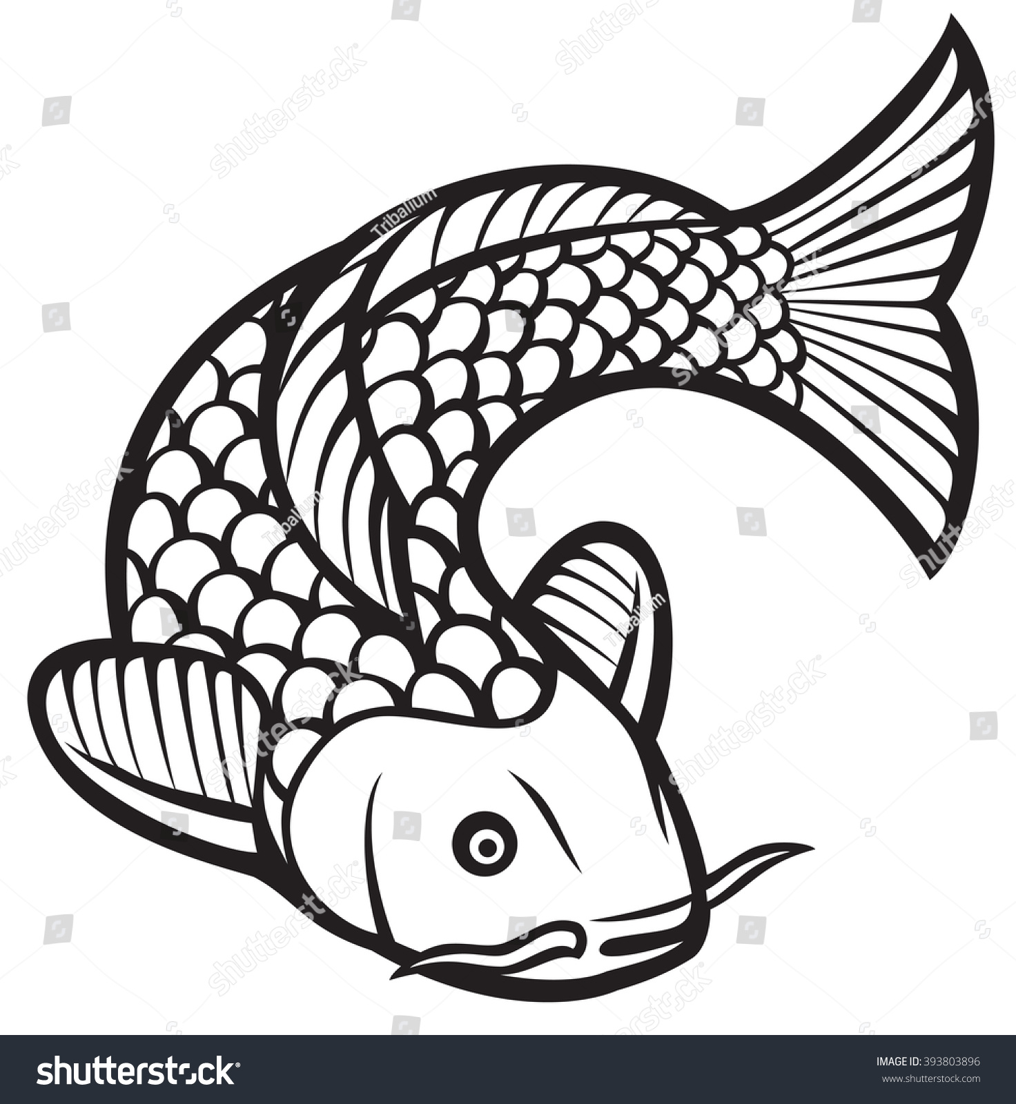 Koi fish stock vector 393803896 shutterstock for Koi fish vector
