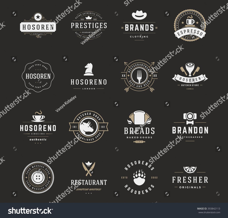 Royalty-free Vintage Logos Design Templates Set,… #393842113 Stock ...