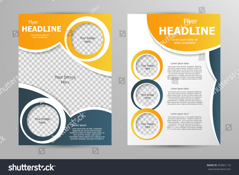 Vector Flyer Template Design Business Brochure Stock Vector Royalty
