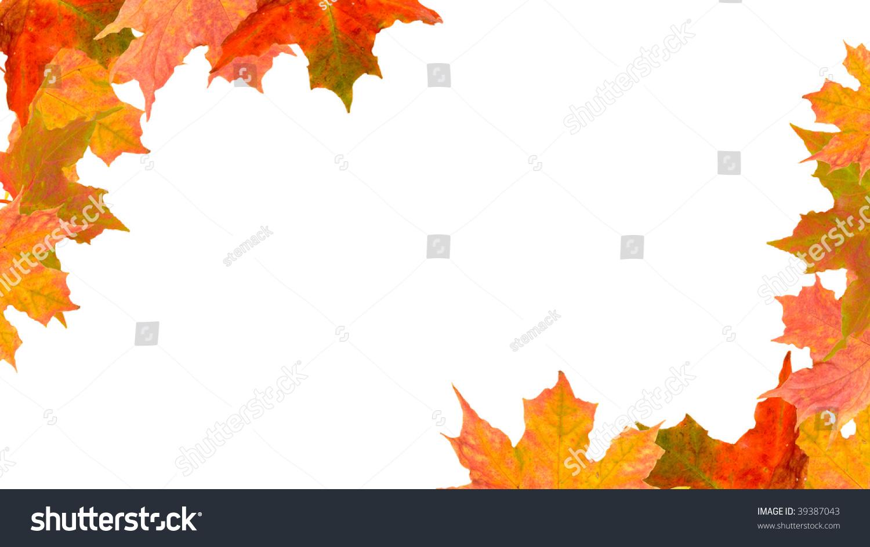 Autumn Leaves Form Corner Borders Stock Photo 39387043 ...